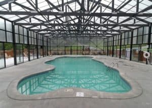 indoor pool used by Pigeon Forge cabins with pool access
