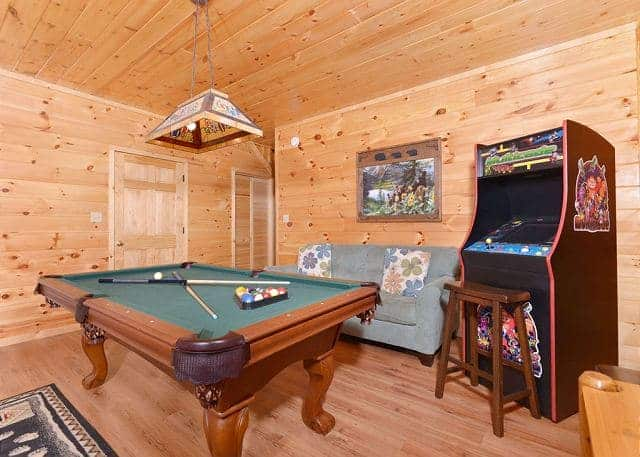 Affordable cabins with game rooms in Gatlinburg
