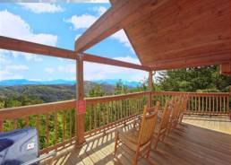 View of the Smoky Mountains from cabin