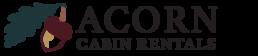 acorn cabin rentals logo black